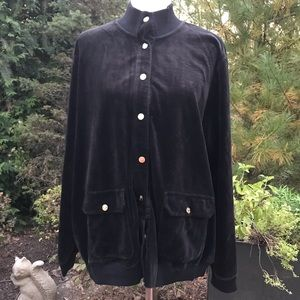 Lauren Ralph Lauren Black Velour Jacket
